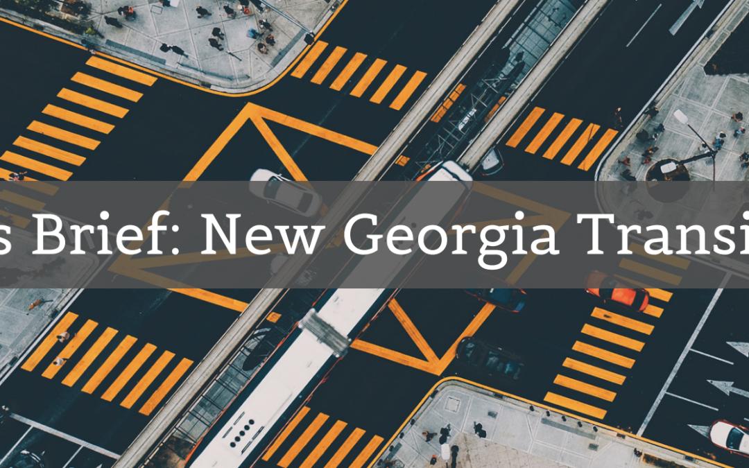 Georgia Has a New Transit Bill